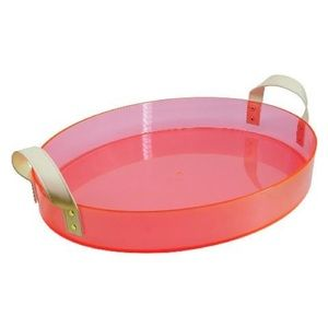 Target pink acrylic tray with handles